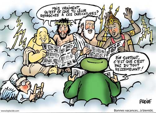 L'affaire des caricatures de Mahomet vue par Placide