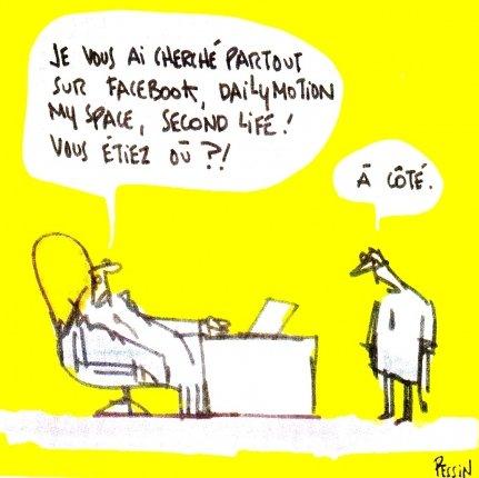 Les réseaux sociaux, vus par Pessin