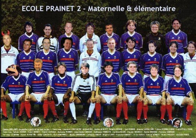"""La """"Dream Team"""" de l'école Prainet 2 de Décines (2003-2005)"""