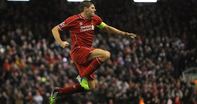 Steven Gerrard sous le maillot des Reds