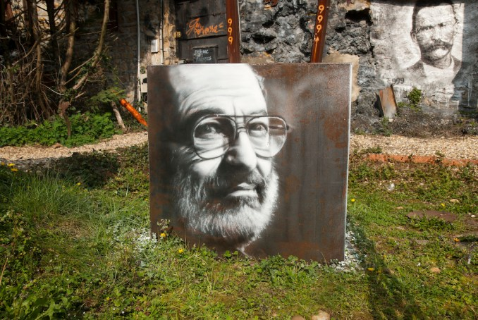 Umberto Eco, painted portrait (CC-BY)