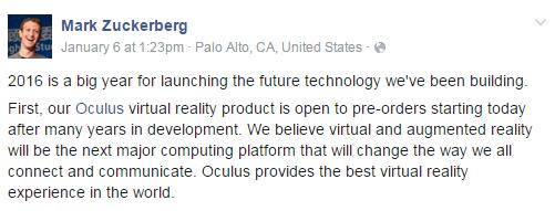Oculus Rift Coming This Week