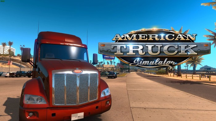 Playing american truck simulator on gaming laptop