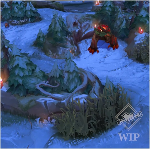 league of legends snow showdown map screenshot