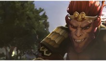 playing monkey king on Dota 2