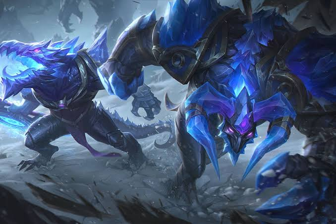 Released of the new blackfrost skins from League of Legends for gaming pc