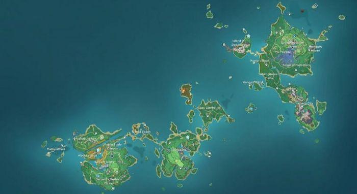 Inazuma and its Geography