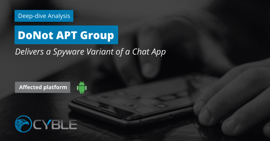Cyble_OSINT_Android_Spyware_Chat_DoNot_APK