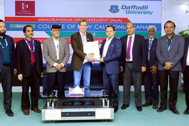 DIU signed Memorandum of Agreement with College of New Caledonia (CNC), Canada