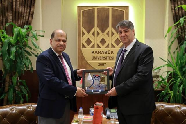 Honorable Vice–Chancellor Dr. Yousuf Mahbubul Islam and Mr. Masud Ibn Rahman, Associate Professor of DIU recently visited the Karabuk University, Turkey under Erasmus+ KA107 Training Programme
