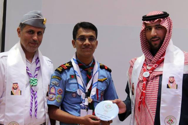 """Md. Nazmul Hasan, Senior Rover Mate of DIU Air Rover Scout Group Attended """"3rd International Peace Camp 2019"""