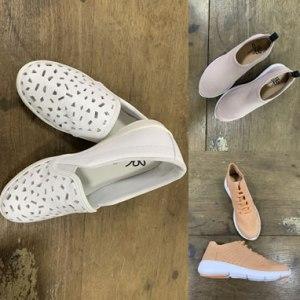 Coleção de tênis e calçados femininos