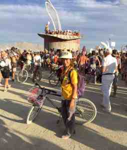 Dalia at Burning Man