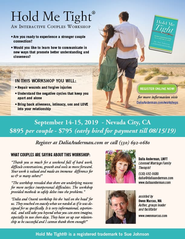 Hold Me Tight Couples Workshop-SEPT 2019