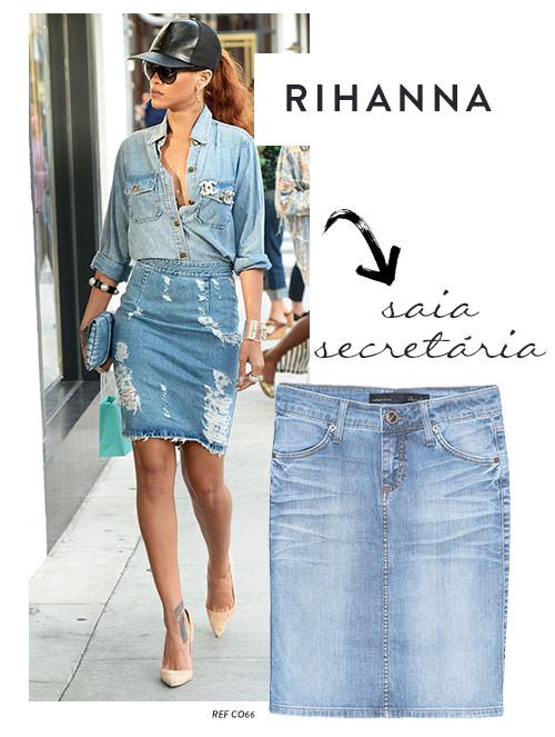 Saia jeans secretaria
