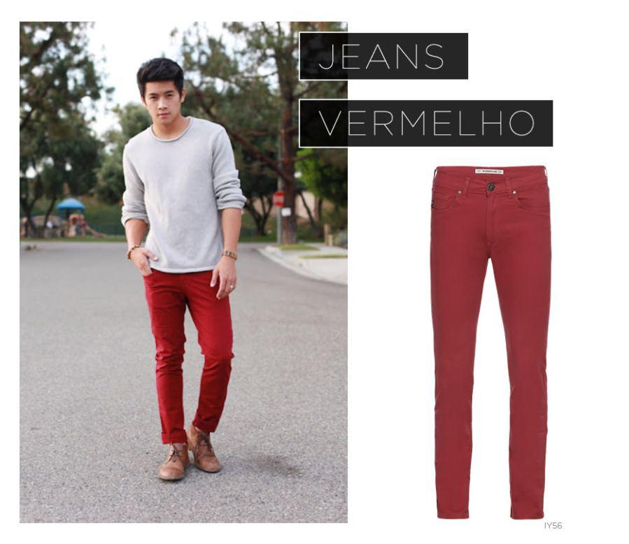 Jeans vermelho
