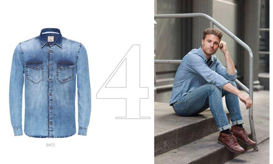 camisa jeans e calça jeans masculina