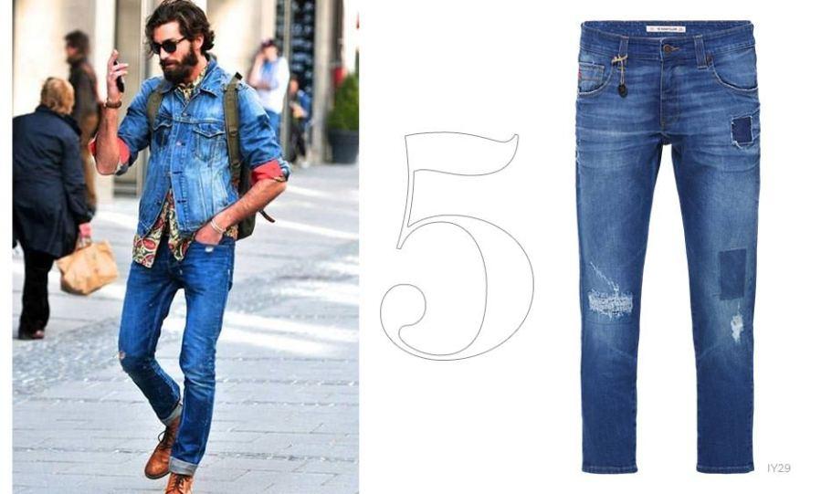 calça jeans destroyed masculina