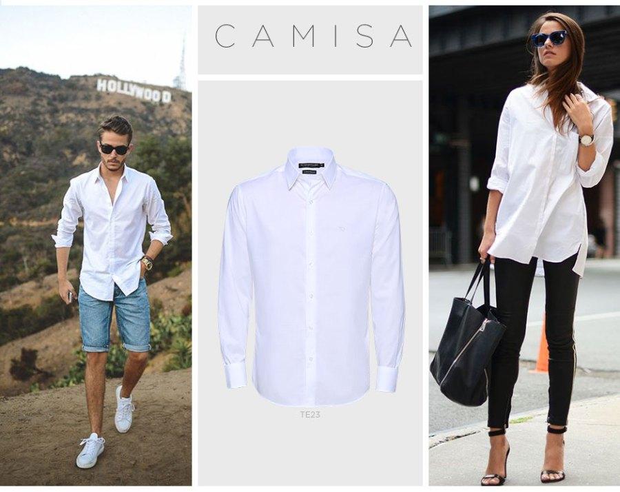 looks com camisa branca