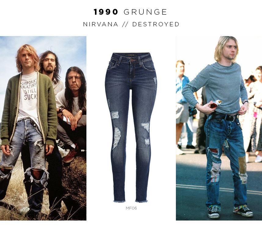 jeans no rock grunge