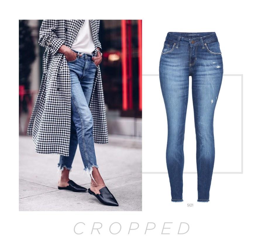 calça jeans cropped