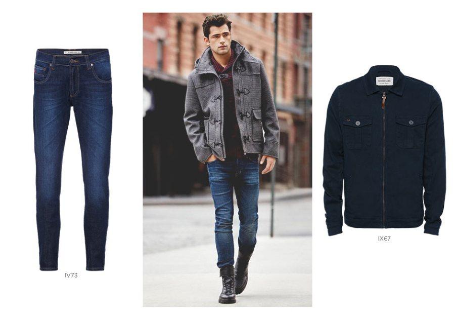 jeans e jaqueta de veludo masculino
