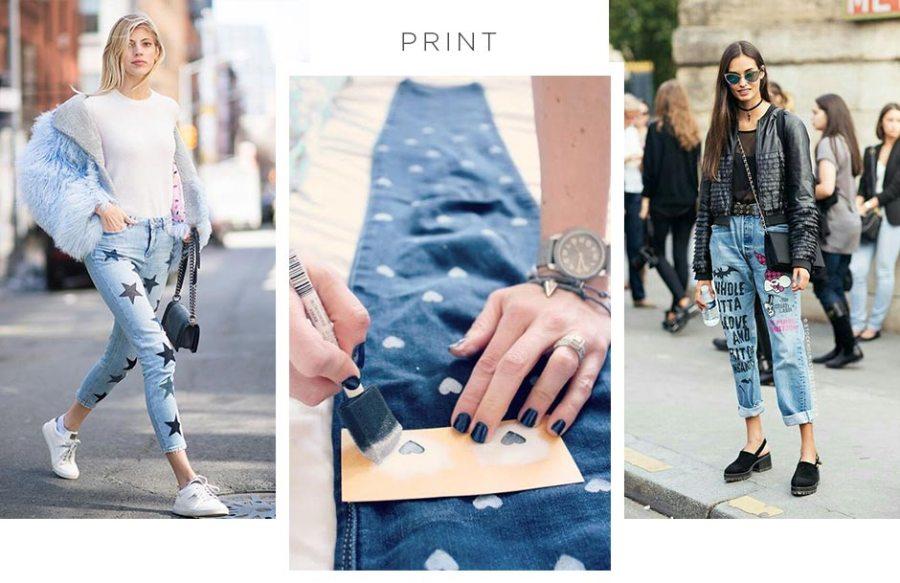 Customizar calça jeans com tinta