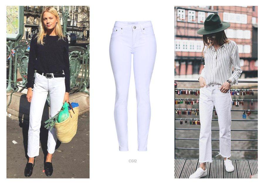 look com jeans branco