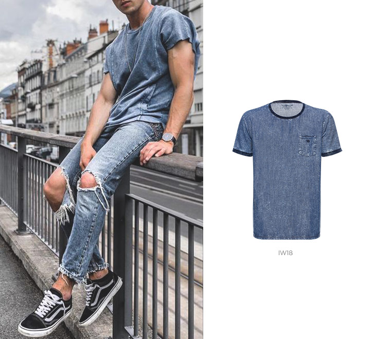 Look com camiseta jeans
