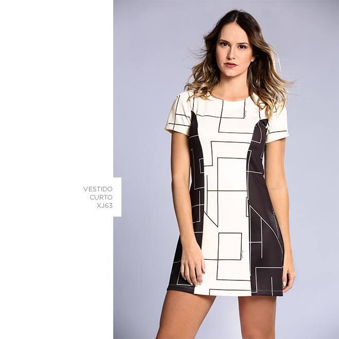 vestido curto damyller