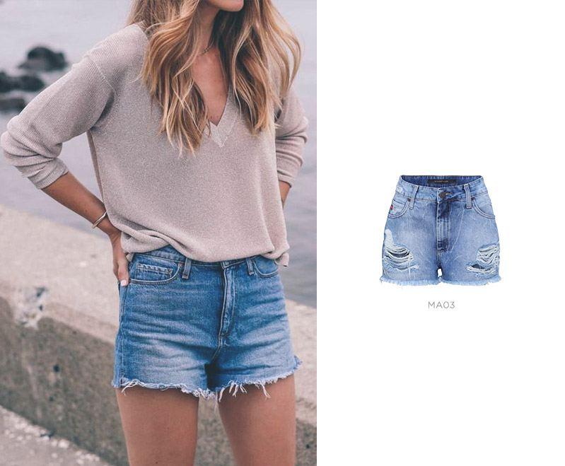 short jeans para um look básico