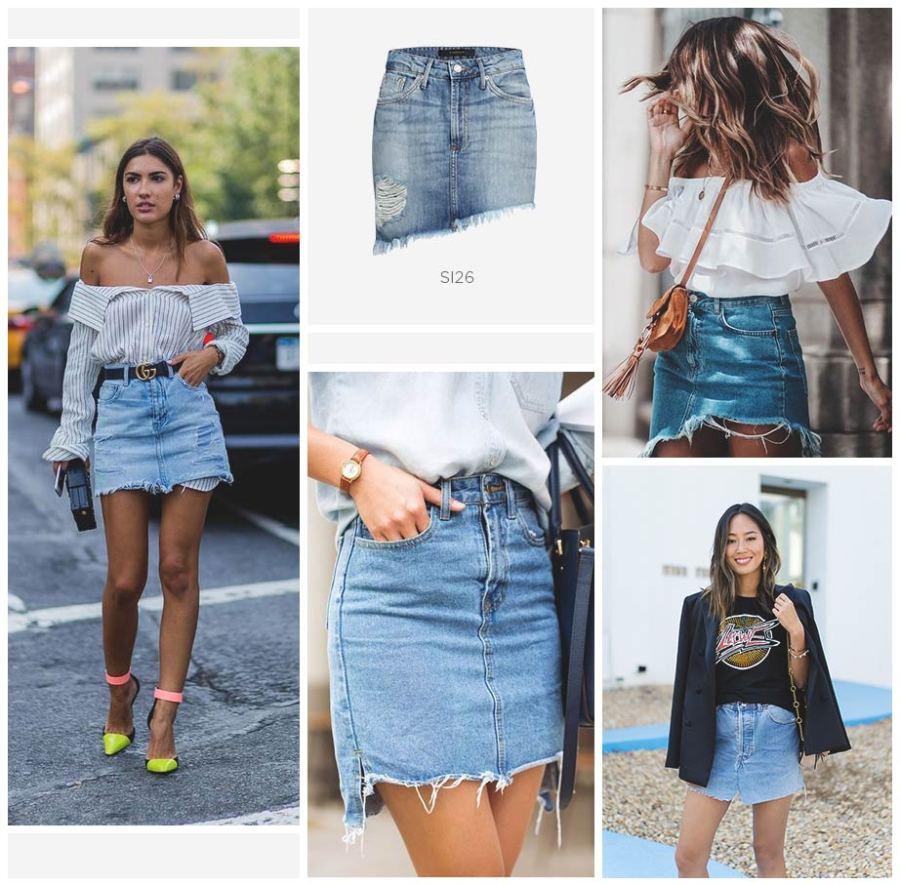 saia jeans no verão