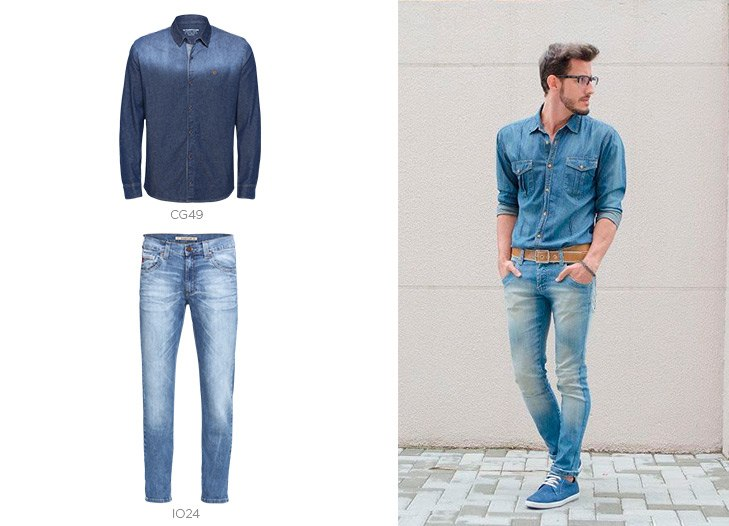 look total jeans masculino