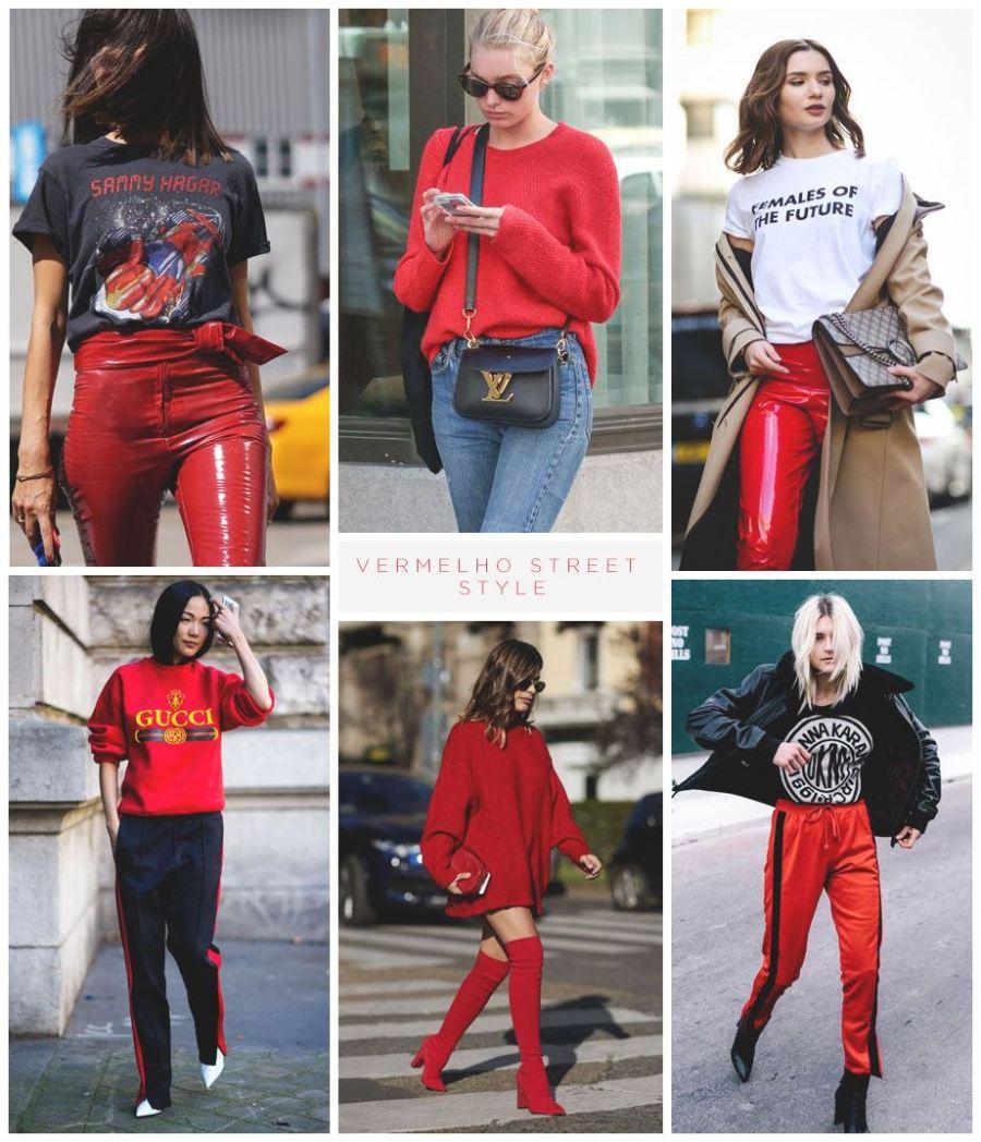 vermelho street style