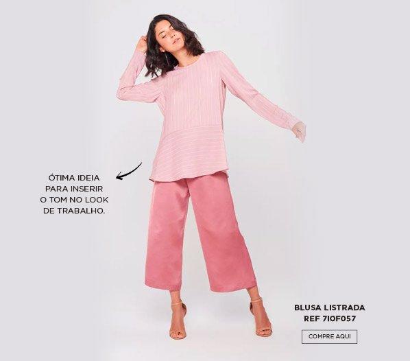 blusa listrada pink