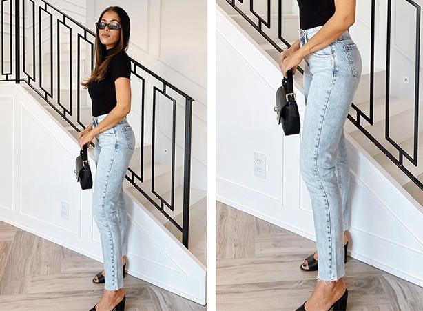 Mom jeans com salto