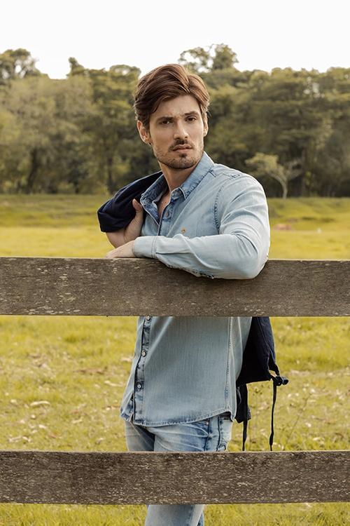 look jeans azul claro masculino