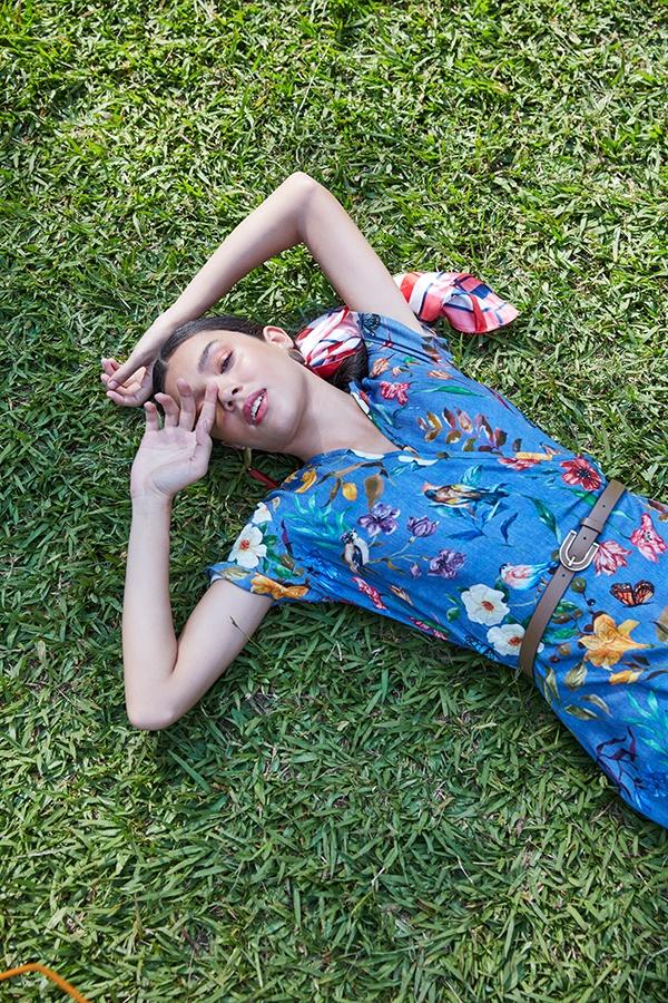 Vestido de estampa floral