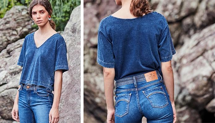 look minimal all jeans feminino