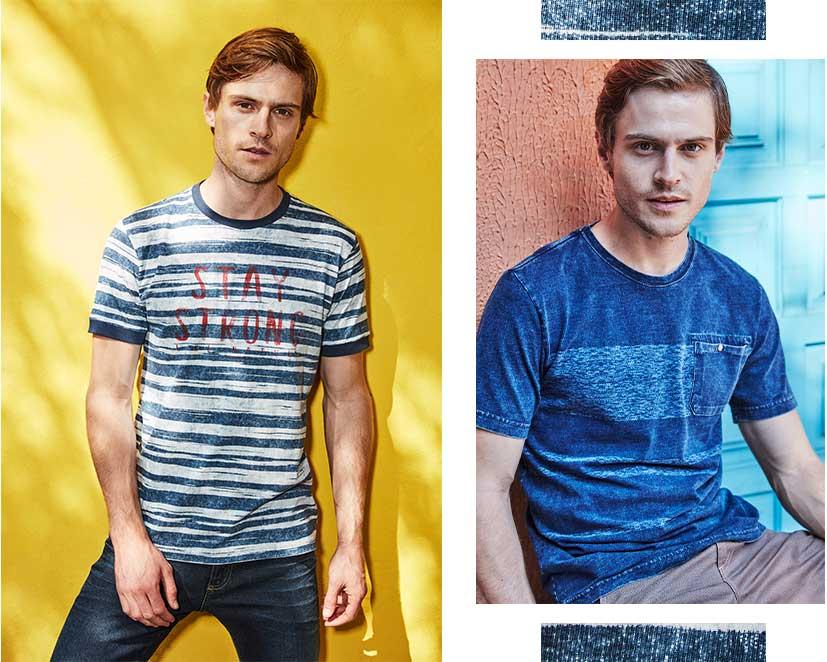 Jeans com camiseta de malha