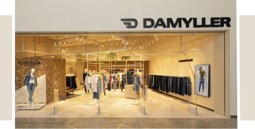 fachada lojas Damyller