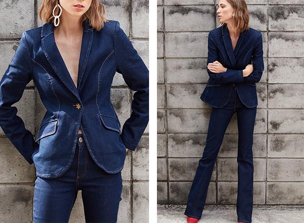 casaco blazer jeans