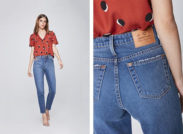 Calça anos 90 - mom jeans