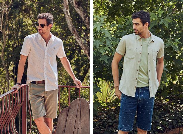 Bermuda com camisa social