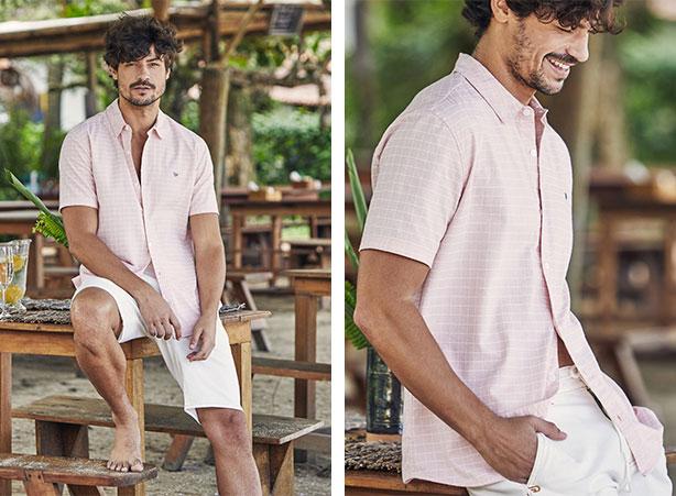 Camisa masculina para look de réveillon