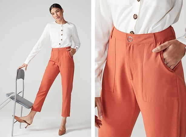 Camisa branca com calça de alfaiataria