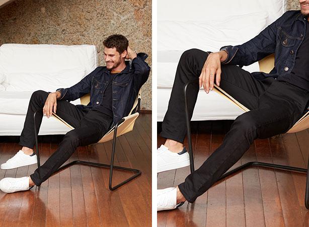 Look masculino com calça jogger preta