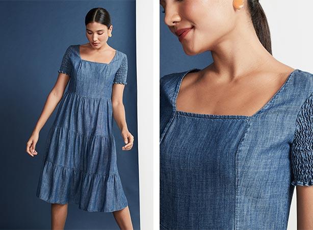 Vestido médio breezy dress