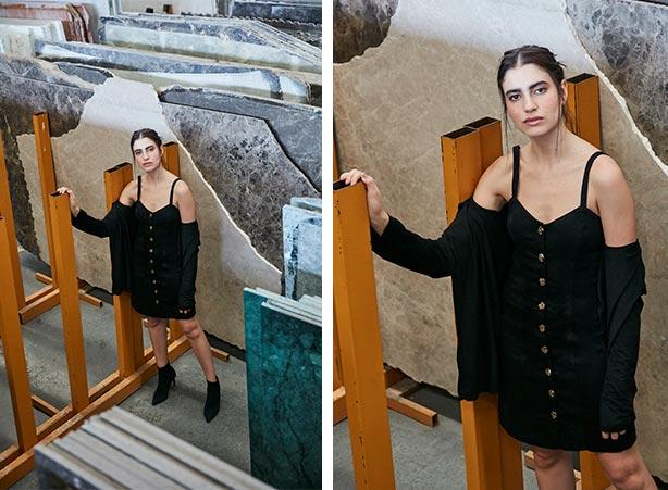 Cardigan feminino com vestido