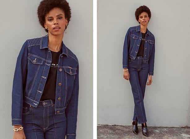 Duo jeans com camiseta